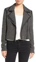 Paige Telma Moto Jacket with Faux Leather Trim