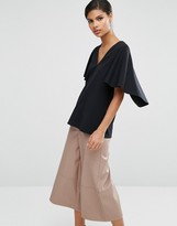 Asos Top With Cape Sleeve