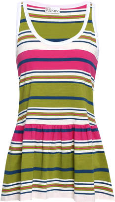 RED Valentino Striped Cotton-jersey Top