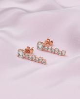Ted Baker 9ct Rose Gold And Morganite Drop Shuffle Earrings