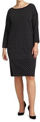 Joan Vass, Plus Size Studded Sheath Dress