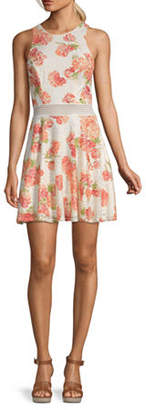 City Triangle-Juniors Sleeveless Floral Fit & Flare Dress