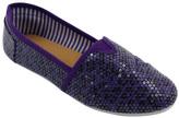 Purple Leopard Sequin Tammy Slip-On Shoe