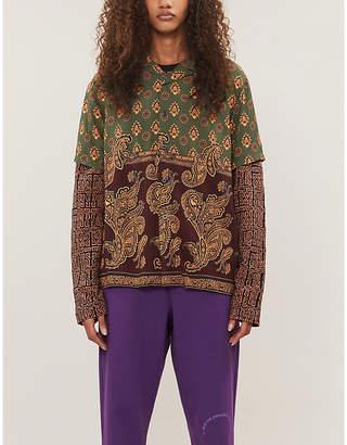 Stussy Paisley-print loose-fit poplin shirt