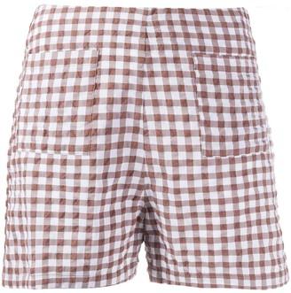Soulland Ella checked shorts