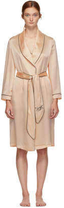 Agent Provocateur Pink Silk Classic Short Robe