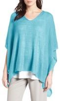 Eileen Fisher Women's Organic Linen Knit Poncho