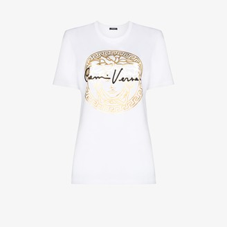 Versace Medusa metallic logo T-shirt