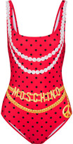 Moschino Printed Swimsuit - Red