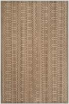 Safavieh Infinity Collection INF583T Beige and Taupe Polyester Area Rug, 4-Feet by 6-Feet