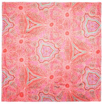 Athena Procopiou Jacques floral mosaic scarf