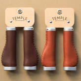 Temple Cycles Ergonomic Leather Bicycle Grips