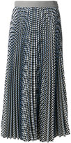 MSGM checked pleated skirt - women - Polyester/Viscose - 42