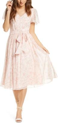 Rachel Parcell Floral A-Line Dress