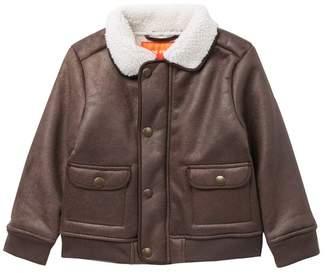 Joe Fresh Faux Shearling Flight Jacket (Toddler & Little Boys)