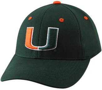 Top of the World Unbranded Miami Hurricanes Youth Green Basic Logo 1-Fit Hat