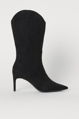 H&M Pointed Boots - Black