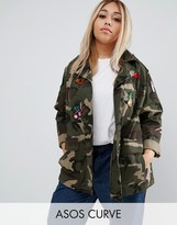Asos Camo Jacket With Badges