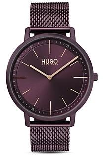 HUGO #Express Aubergine Dial Watch, 35mm