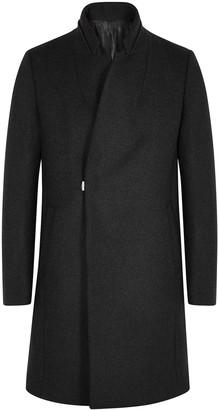 Wooyoungmi Charcoal wool-blend coat