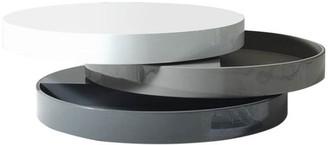 VIG Furniture Modrest Trio-3 Lacquer 3-Tone Round Coffee Table