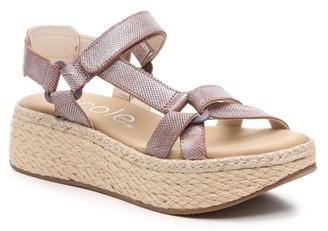 Nicole Pathbreaker Espadrille Wedge Sandal