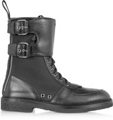 Balmain Leather & Nylon Maddox Ranger Boot
