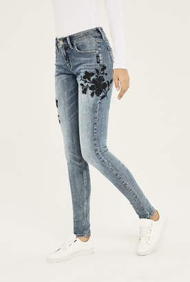 Silver Jeans Silver Avery Skinny Floral Jean