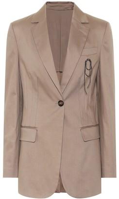 Brunello Cucinelli Single-breasted cotton blazer