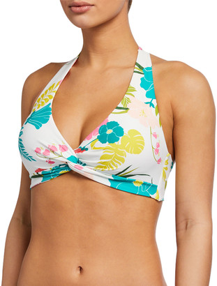 Kate Spade Daisy Knotted Halter Bikini Top