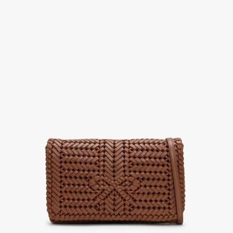 Anya Hindmarch Neeson Cedar Leather Woven Cross-Body Bag