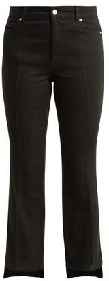 Alexander McQueen Cropped Kick-flare Step-hem Jeans - Womens - Black