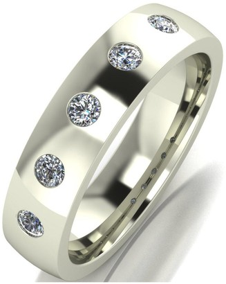 Love Diamond 9ct Gold 25 Point Diamond Set 5mm Court Wedding Band