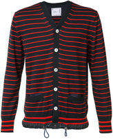 Sacai striped cardigan - men - Cotton/Cashmere - 2