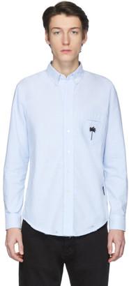 Palm Angels Blue Palm x Palm Ripped Oxford Shirt