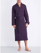 Derek Rose Nelson Geometric-printed Cotton Robe