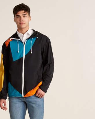Brandblack 3D Print Full-Zip Color Block Jacket