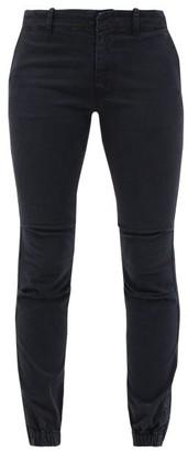Nili Lotan Jenna Cropped Cotton-blend Slim-leg Trousers - Navy