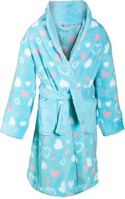 Lora Dora Girls Heart Dressing Gown Turq 3-4 Years