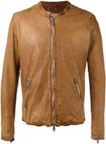 Giorgio Brato zipped leather jacket - men - Cotton/Leather/Nylon - 46