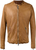 Giorgio Brato zipped leather jacket - men - Leather/Nylon/Cotton - 46