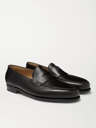 John Lobb Lopez Full-Grain Leather Penny Loafers