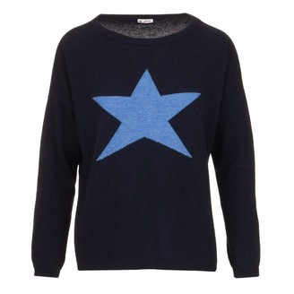 At Last... Cashmere Sweater Large Blue Star