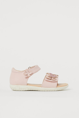 H&M Sandals with Applique - Pink