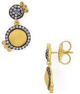 Freida Rothman Pavé Disc Drop Earrings