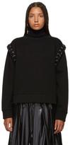 Noir Kei Ninomiya Moncler Genius 6 Moncler Black Lace-Up Sweatshirt