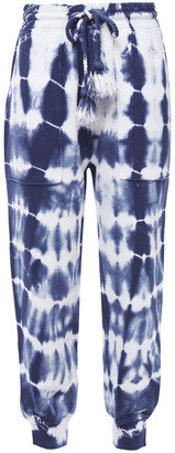 Ulla Johnson Charley Tie-dyed French Cotton-terry Track Pants