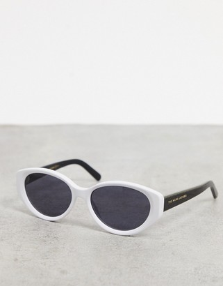 Marc Jacobs oval sunglasses in monochrome