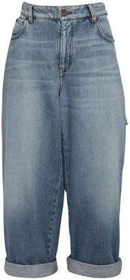 Max Mara Cropped Cotton Denim Jeans