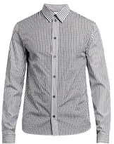 J.w.anderson Gingham And Logo-print Cotton-poplin Shirt
